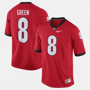 Alumni Football Game A.J. Green UGA Jersey Red #8 For Men's 195518-815