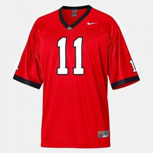 College Football Aaron Murray UGA Jersey Youth(Kids) Red #11 140071-117