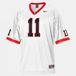 Aaron Murray UGA Jersey College Football For Men's White #11 187362-903