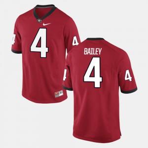 Alumni Football Game Champ Bailey UGA Jersey #4 Mens Red 903539-685