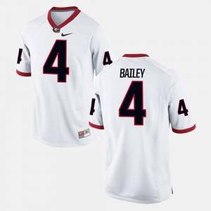 Alumni Football Game Men's White #4 Champ Bailey UGA Jersey 573510-485