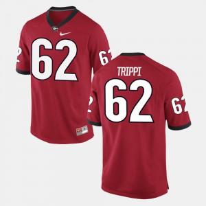 Alumni Football Game Men's Red Charley Trippi UGA Jersey #62 958464-211