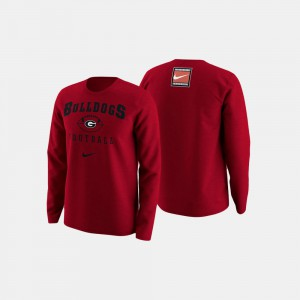 Red Mens UGA Sweater College Football Retro Pack 675422-901