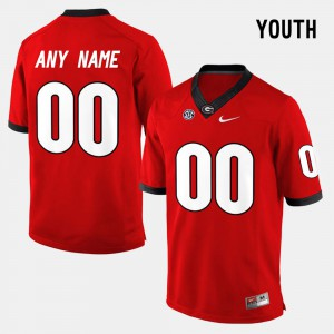 College Limited Football #00 Red Youth UGA Customized Jerseys 258981-398