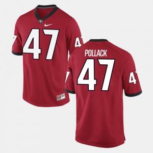 David Pollack UGA Jersey Red For Men #47 Alumni Football Game 982815-827