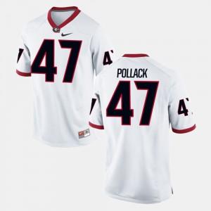 Alumni Football Game #47 David Pollack UGA Jersey White Men 938776-277