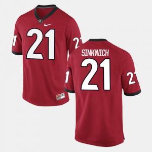 Red #21 Alumni Football Game Men Frank Sinkwich UGA Jersey 579195-730
