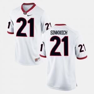 Men Frank Sinkwich UGA Jersey #21 White Alumni Football Game 620009-840