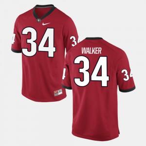 For Men's Red Herschel Walker UGA Jersey Alumni Football Game #34 432047-914