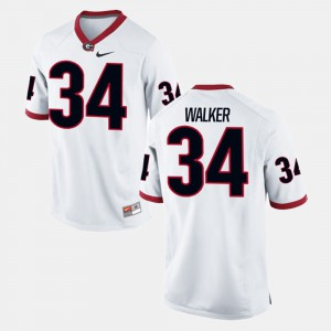 Alumni Football Game White #34 For Men Herschel Walker UGA Jersey 771033-999