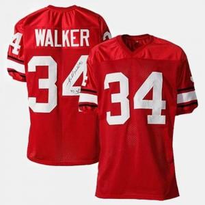College Football #34 Red Herschel Walker UGA Jersey For Men's 180711-978