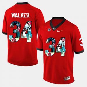 Men Red Herschel Walker UGA Jersey Player Pictorial #34 654586-584