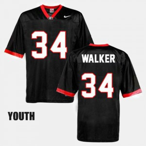 #34 College Football Black Kids Herschel Walker UGA Jersey 367695-531