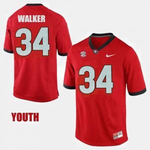 For Kids College Football #34 Herschel Walker UGA Jersey Red 861474-834