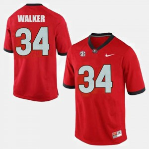 For Men Red College Football #34 Herschel Walker UGA Jersey 864545-389
