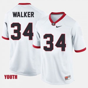 Herschel Walker UGA Jersey #34 College Football White Kids 146907-757
