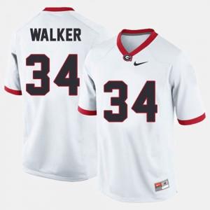 Herschel Walker UGA Jersey White College Football #34 Men 128882-649