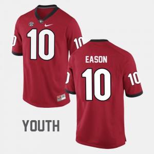 For Kids Red Jacob Eason UGA Jersey College Football #10 972812-786