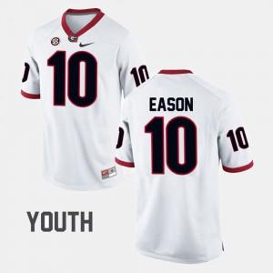 Kids #10 Jacob Eason UGA Jersey College Football White 636072-220
