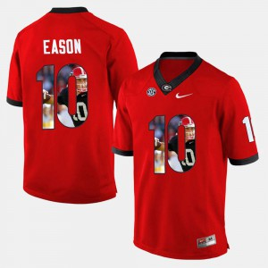 Jacob Eason UGA Jersey For Men Red #10 Player Pictorial 926151-536