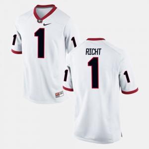 White Alumni Football Game For Men's Mark Richt UGA Jersey #1 313538-391