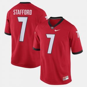 #7 For Men Red Alumni Football Game Matthew Stafford UGA Jersey 206637-805