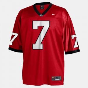 #7 Red College Football Men Matthew Stafford UGA Jersey 978734-716