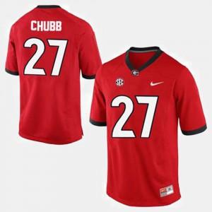 #27 Red Men's Nick Chubb UGA Jersey College Football 513282-707