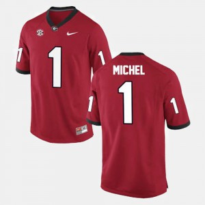 Mens Red College Football Sony Michel UGA Jersey #1 261686-425