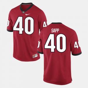 #40 Theron Sapp UGA Jersey Alumni Football Game For Men's Red 695205-114