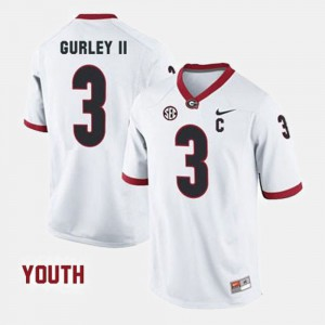 White Youth Todd Gurley II UGA Jersey College Football #3 443313-633