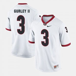 White For Men's Todd Gurley II UGA Jersey College Football #3 630411-915