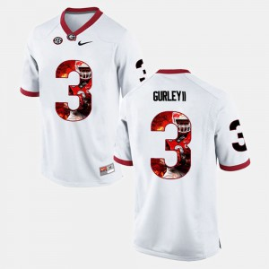Todd Gurley II UGA Jersey #3 Player Pictorial Men's White 295378-481