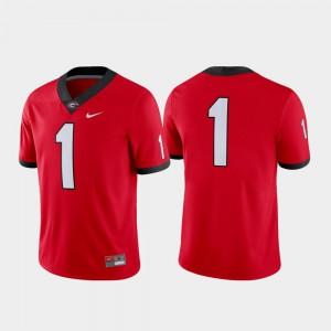Game Football #1 Red Men's UGA Jersey 279744-186