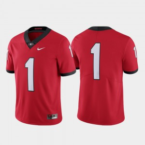 #1 Red For Men's UGA Jersey College Football Limited 774508-409