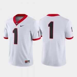 Game Men UGA Jersey White College Football #1 761806-974