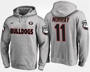 #11 Gray Aaron Murray UGA Hoodie Mens 260625-311
