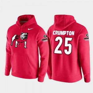 #25 Men's College Football Pullover Ahkil Crumpton UGA Hoodie Red Vault Logo Club 299889-523