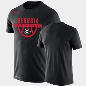 Drop Legend UGA T-Shirt Mens Black Performance Basketball 783442-466