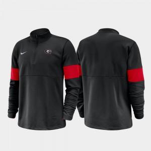 Half-Zip Performance 2019 Coaches Sideline UGA Jacket Black For Men 937225-316