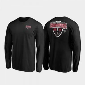 Mens 2020 Sugar Bowl Champions Black UGA T-Shirt Hometown Lateral Long Sleeve 887261-363