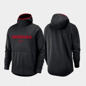 UGA Hoodie Spotlight Basketball Team Logo Pullover For Men's Black 203699-142