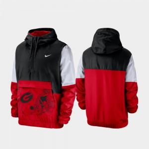 Men's Colorblock Anorak UGA Jacket Black Quarter-Zip 616905-230