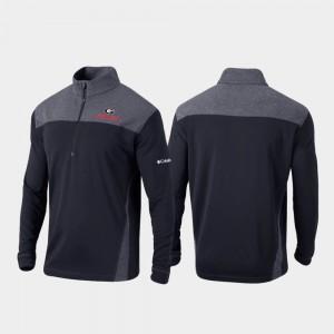 Omni-Wick Standard For Men UGA Jacket Black Quarter-Zip Pullover 583981-795