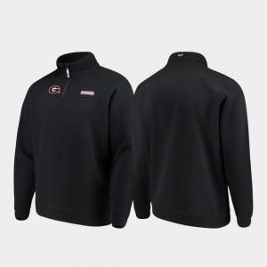 UGA Jacket Black For Men Shep Shirt Quarter-Zip 844962-736