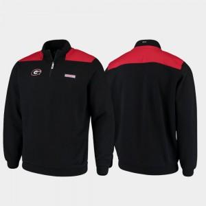 UGA Jacket Shep Shirt Black Men's Quarter-Zip Pullover 561423-977