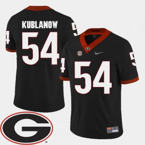 #54 Black Brandon Kublanow UGA Jersey College Football Men 2018 SEC Patch 375654-136