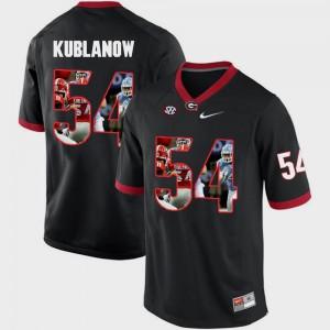 Brandon Kublanow UGA Jersey Men's Black Pictorial Fashion #54 770529-511