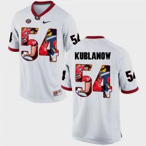 Pictorial Fashion Brandon Kublanow UGA Jersey Men White #54 381948-621