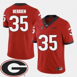 #35 2018 SEC Patch Brian Herrien UGA Jersey Men's College Football Red 465259-890